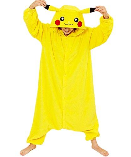 Zorabridal Pokemon Pikachu Cosplay Unisex Adult Costume Onesies Pajamas (Medium)