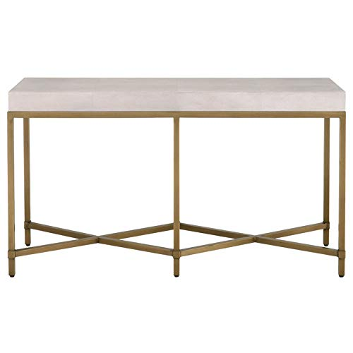 Floating Square Coffee Table In Green And Black Slatelike: Amazon.com: MAKLAINE White Shagreen Console Table With