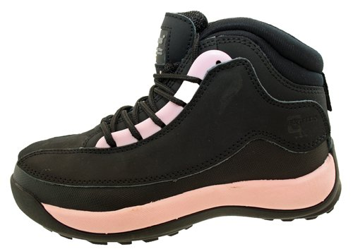 LADIES LEATHER SAFETY STEEL TOE BOOTS BLACK UK3 fNqNGmG