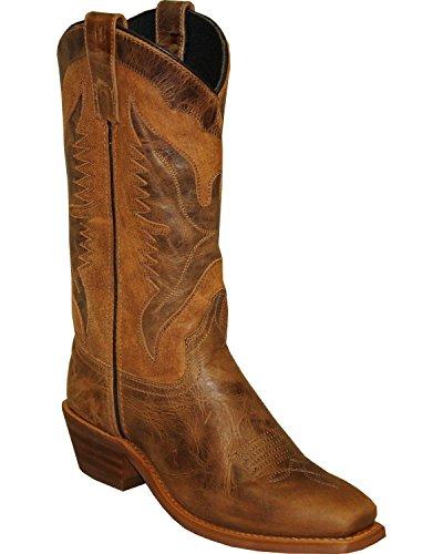 Abilene Mens Sage Par 12 Aigle Sous-couche Western Boot Carré Orteil Brun 7.5 D