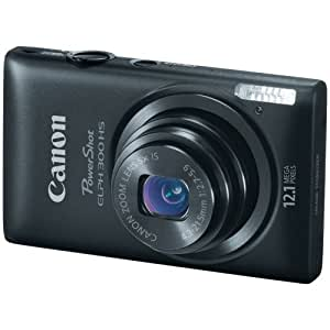Canon PowerShot ELPH 300 HS 12.1 MP CMOS Digital Camera with Full 1080p HD Video (Black)