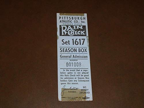 ORIGINAL 1950'S PITTSBURGH PIRATES FORBES FIELD TICKET ()