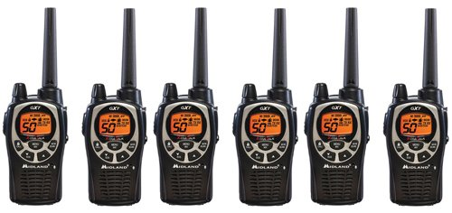 Midland GXT1000VP4 36-Mile JIS4 Waterproof 50-Channel FRS/GMRS Two-Way Radio (6 Pack ) by Midland