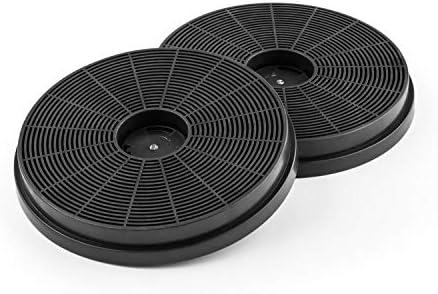 Klarstein - Filtro de carbón activado para campanas extractoras - 2 filtros, modo de recirculación, encuaderna olores, filtros de repuesto, fácil instalación y cambio, juego de 2, dimensiones: 17,5 x 2,5 cm: Amazon.es: Hogar