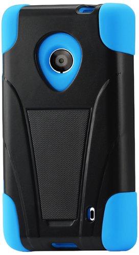 Reiko Silicon Case/Protector Cover for Nokia Lumia 520/521 - Non-Retail Packaging - Navy/Black