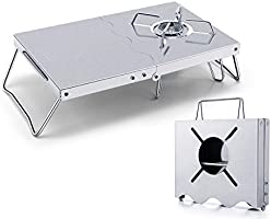 【Amazon限定ブランド】Rmete 遮熱テーブル SOTO(ST-310)向け イワタニ向け アルコールバーナー 遮熱板 二つ折れ シングルバーナー テーブル 一台多役 折り畳み ステンレス製 コンパクト 専用収納袋付き MT-ZD001