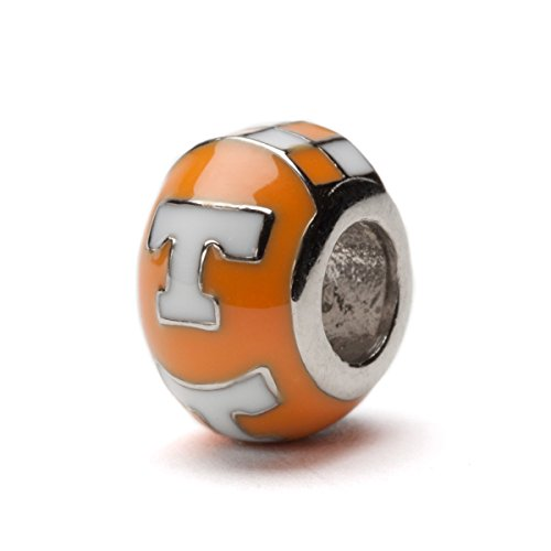 (University of Tennessee Bead Charm | Tennessee Orange and White