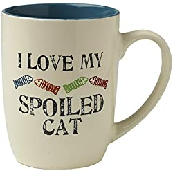 "Pet Rageous ""I Love My Spoiled Cat"" Mug, 24 oz, Natural/Multicolor"