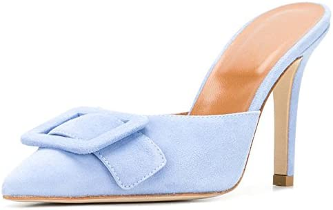 Divanne Heeled Mules for Women, Pointed