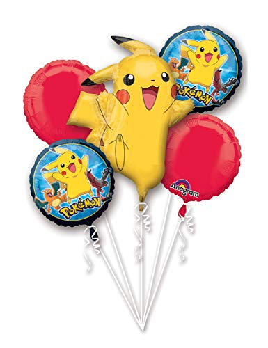 Anagram Pokemon Pikachu and Friends 5 Mylar Balloons Bouquet ~ Party Supplies]()