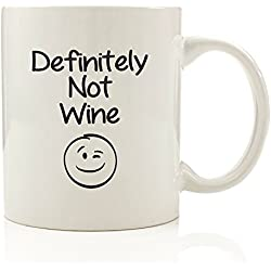 Got Me Tipsy Definitely Not Wine Funny Coffee Mug - Birthday Gift Idea for Her, Gifts for Women - 11-Ounce, Ceramic