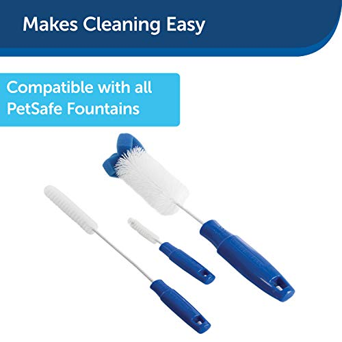 PetSafe Drinkwell Dog and Cat Water Fountain Cleaning Kit, 3 Brushes,blue,1 3/8', 1 5/8', 2' brushes