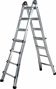 Altipesa 325 Escalera telesc&oacutepica de aluminio 5+5 pelda&ntildeos (EN 131), Standard: Amazon.es: Bricolaje y herramientas