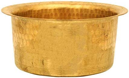 PLANET 007 Brass Patila Tope Topia Max 72% OFF Bhaguna security Round Cooking