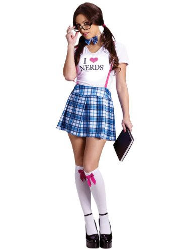 FunWorld Womens Love Nerds Costume