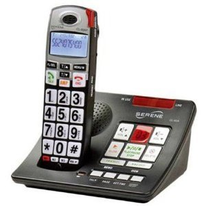 Serene Innovations CL-60A Amplified Talking Caller ID Cordless Phone with Amplified & Slow-play Answering Machine by Serene Innovations