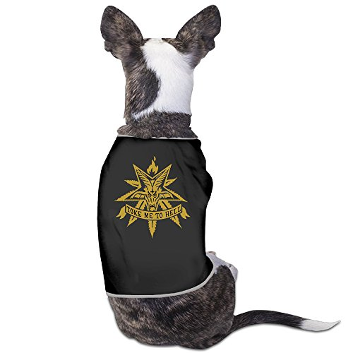 Addicted White Leaf Printing Pet Dog Clothes Shirt Crazy Dog Costumes Sweaters (Crazy Dog Costumes)