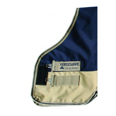 Horseware Mio Medium Turnout Blanket 84 Navy/Tan by Horseware
