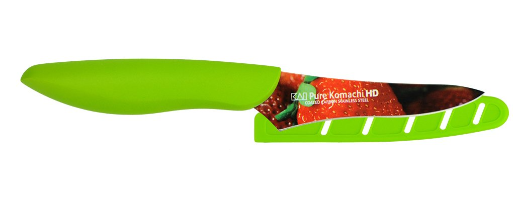 Kai USA Pure Komachi 2 AB9077 HD Photo Berry Knife, 3.5-Inch, Strawberry by Kai USA