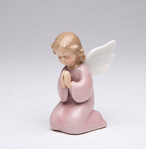 (Cosmos Gifts 10322 Fine Porcelain Inspirational Kneeling Praying Girl Angel Figurine, 3-3/8