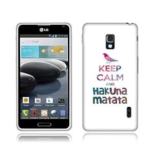 Fincibo (TM) LG Optimus F6 D500 MS500 TPU Silicone Protector Case Cover Soft Gel Skin - Keep Calm and Hakuna Matata