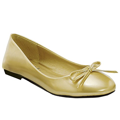 Balletto Classico Casual Con Fiocco Oro