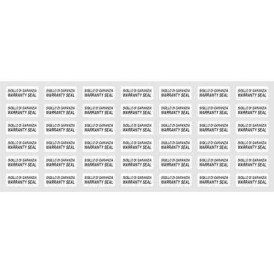 StickersLab - 42 pezzi Etichette bollini adesive antieffrazione antimanomissione antirimozione 1cm x 2, 5cm