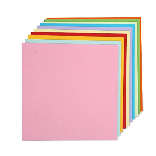 Caydo Double Sided Origami Paper 6-Inch by 6-Inch with 10 Colors