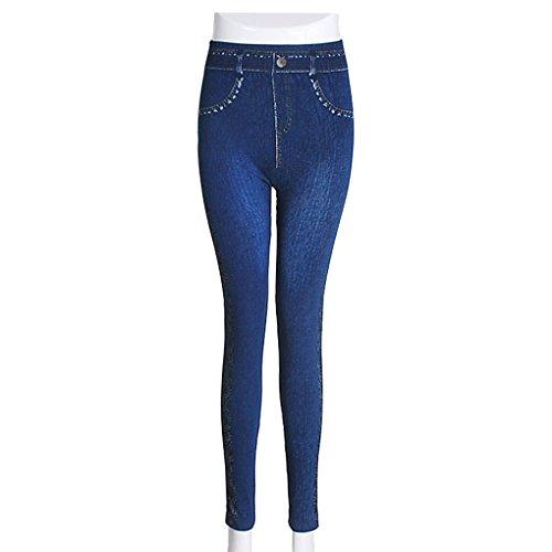 Krastal 2018 Mode Femmes Denim Jeans Leggings Plus Size Slim Pencil Print Side Lace