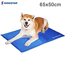 Kingstar Pet Chilly Gel Mat Pads, Folding Soft Comfort Bed Self Cooling Pad for Dogs Cats