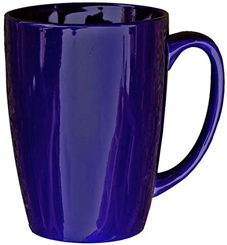 - ITI Ceramic Endeavor Coffee Mugs with Pan Scraper, 14 Ounce (6-Pack, Cobalt Blue)