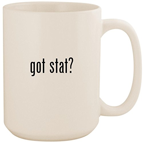 got stat? - White 15oz Ceramic Coffee Mug Cup (Best Volleyball Stats App)