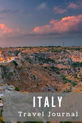 Italy Travel Journal: Travel log/book with 50 double pages for diary entries and 20 pages for notes,  Matera, Italy at Night