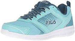 Fila Women's Windstar 2 Running Shoe, Aruba Blue/Ink Blue/Fair Aqua, 9 M US