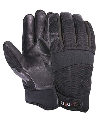 SKYDEER Men's Winter Gloves with Deerskin Leather for Cold Weather (SD2251T/L) (Poor Circulation In Fingers In Cold Weather)