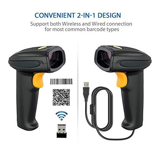 2.4GHz Wireless Barcode Scanner with USB Receiv...