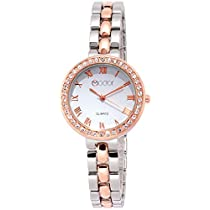 Modor Hues Rose Gold-Silver Analogue White Dial Women's Watc