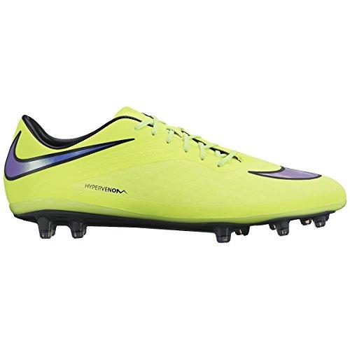 Nike Hypervenom Phatal FG Mens Football Boots 599075 Soccer Cleats Firm Ground (UK 7.5 US 8.5 EU 42, Volt Persian Violet hot Lava Black 758) (Nike Mercurial Victory Iv Fg Mens Football Boots)