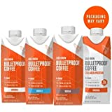 Bulletproof Cold Brew Coffee, Keto Friendly, Sugar Free, with Brain Octane oil and Grass-fed Butter, Sampler Pack (4-Pack - 3 cold brew, 1 cold brew + collagen)