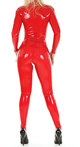 Red latex bodysuit