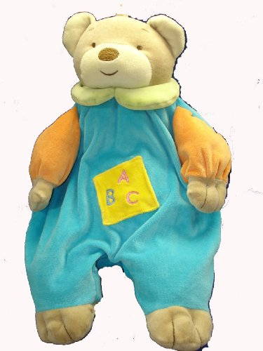 Angel Baby Super Soft Blue Teddy Bear Pajama Bag/ Diaper Holder and Lovie Banky by Ellis Baby Collection