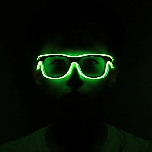 Lineyun LED Light UP EL Glasses Helloween Concert Party Flashing Glasses Eyewear Rave Costume Party DJ Bright SunGlasses For Party Favor's