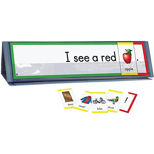 Really Good Stuff Sight Word Sentence Builders: Dolch Pre-Primer Word Cards & Desktop Tent Kit - Pre Primer Dolch Sight Words