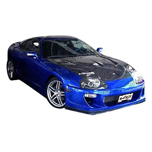 VIS Racing (VIS-DTQ-134) Drift 2 Style Hood Carbon Fiber - Compatible for Toyota Supra 1993-1998 (1993 1994 1995 1996 1997 1998 | 93 94 95 96 97 98) ()