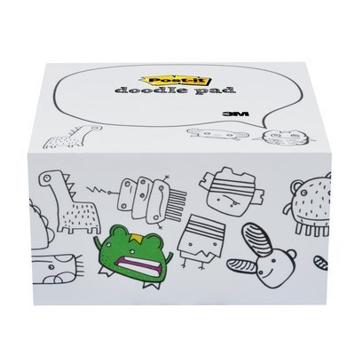 Post-it Notes Cube, Doodle Pad, Monsters Design, 450 Sheets, 4 in x 4 in (Monster Cube)