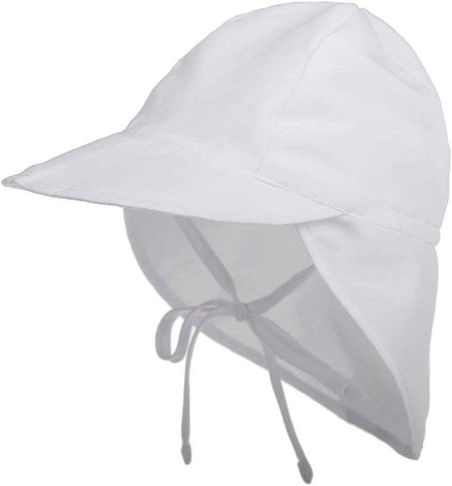 LACOFIA Sombrero de Playa de protección Solar para bebé Gorro de Verano de Solapa Ajustable Super Suave para niños