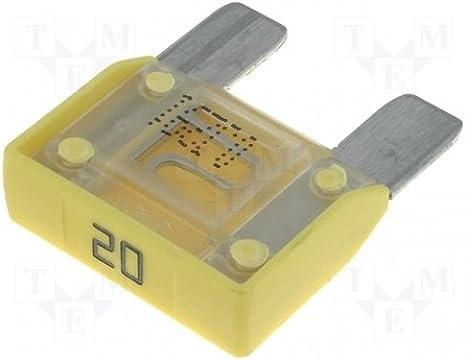 Kfz Maxi 29mm Sicherung Flachsicherung 20a Farbe Gelb Maxival Baumarkt