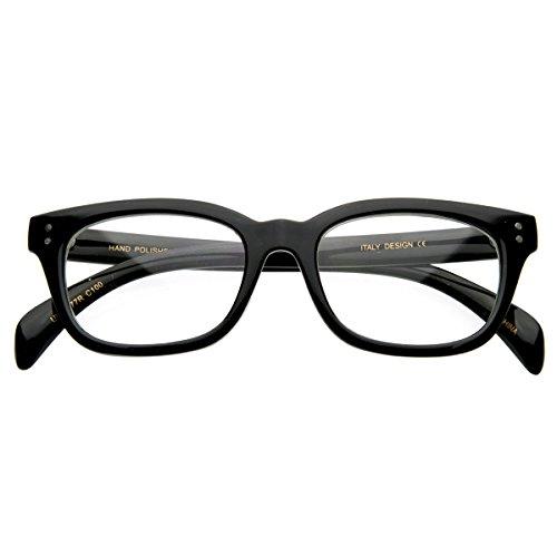 zeroUV - Premium Quality RX Optical Sleek Horn Rimmed Clear Lens Eye Glasses - Clear Eyes Rx