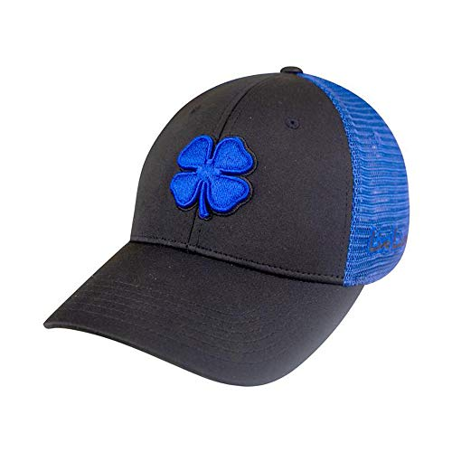 Black Clover Fitted Mesh 2 Royal/Black Fitted Hat - Royal Fitted Black Hats
