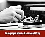 Escape Room Props Telegraph Morse Password Prop Hit Some Times(1-80 Times All ok) to Unlock 12V EM Lock Exit Room Owner